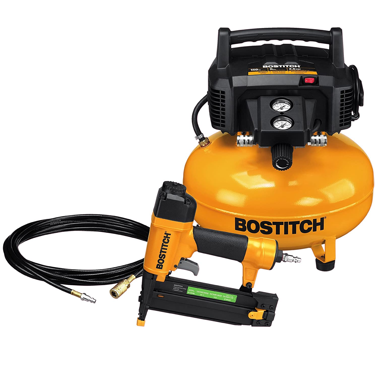 BOSTITCH BTFP02012 6 Gallon Pancake Compressor