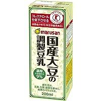 [トクホ]マルサン 国産大豆の調製豆乳 200ml×24本