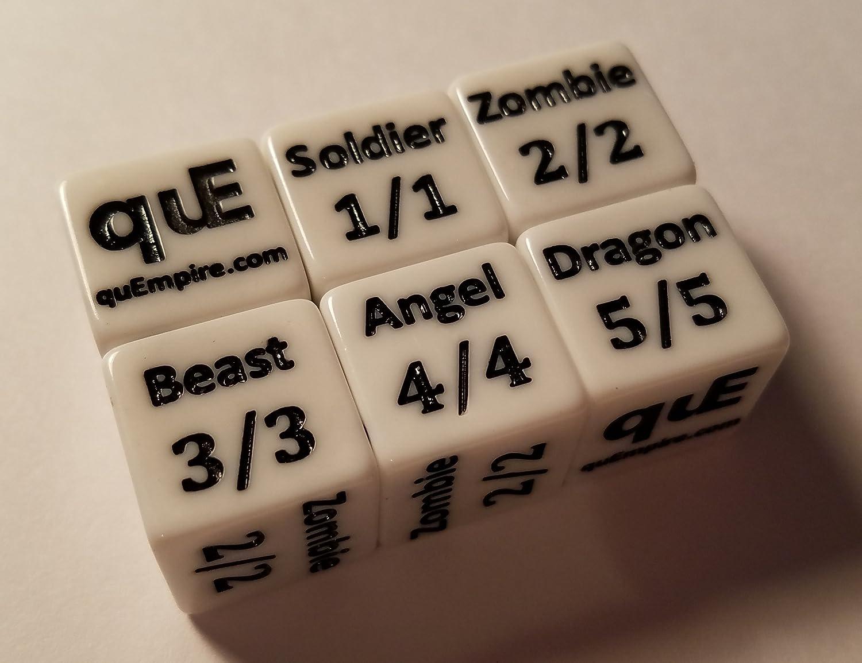 The Gathering CCG MTG Dice Counter Tokens quEmpire 5X Token Creature Dice for Magic