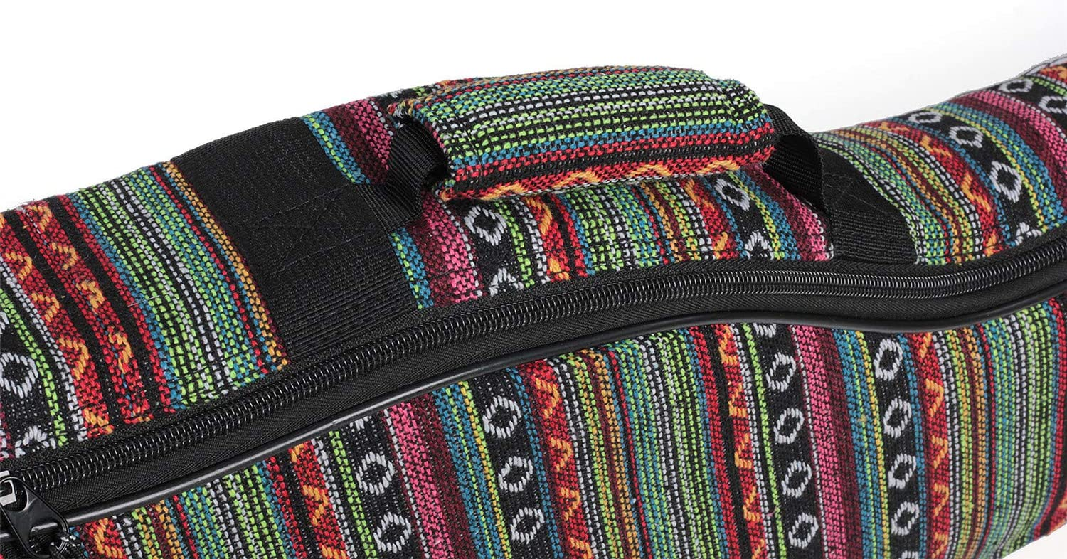Glenmi Bohemian Acoustic Guitar Case for Girls,Soft 10mm Foam Padded 40 41 Inch Guitar Gig Gag Backpack with Neck Protector Pillow Pad
