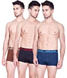 Lux Cozi Men's Cotton Boxers (Pack of 3)(Colors & Print May Vary)