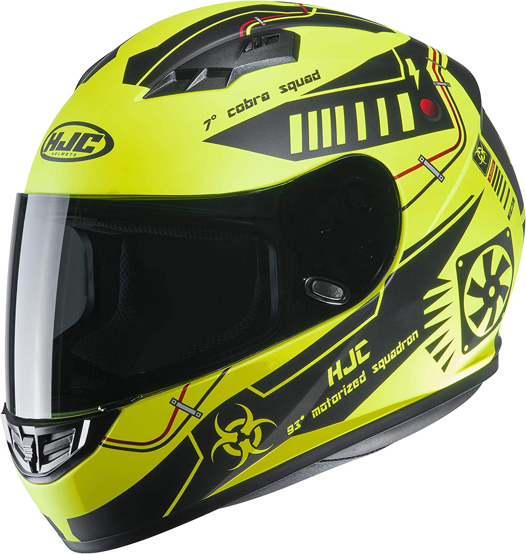 L Gelb//Schwarz Motorradhelm HJC CS 15 TAREX MC4HSF