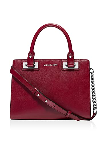 8e54466ccebac7 Amazon.com: MICHAEL Michael Kors Womens Quinn Patent Small Satchel (Red  Patent/silver): Shoes