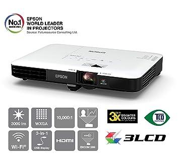 Epson EB-1780W Video - Proyector (3000 lúmenes ANSI, 3LCD, WXGA ...