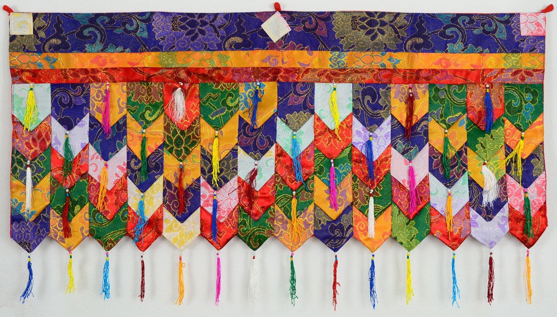 Arazzo buddhista chukor 99cm x 40cm Tibet broccato BUDDHAFIGUREN/Billy Held