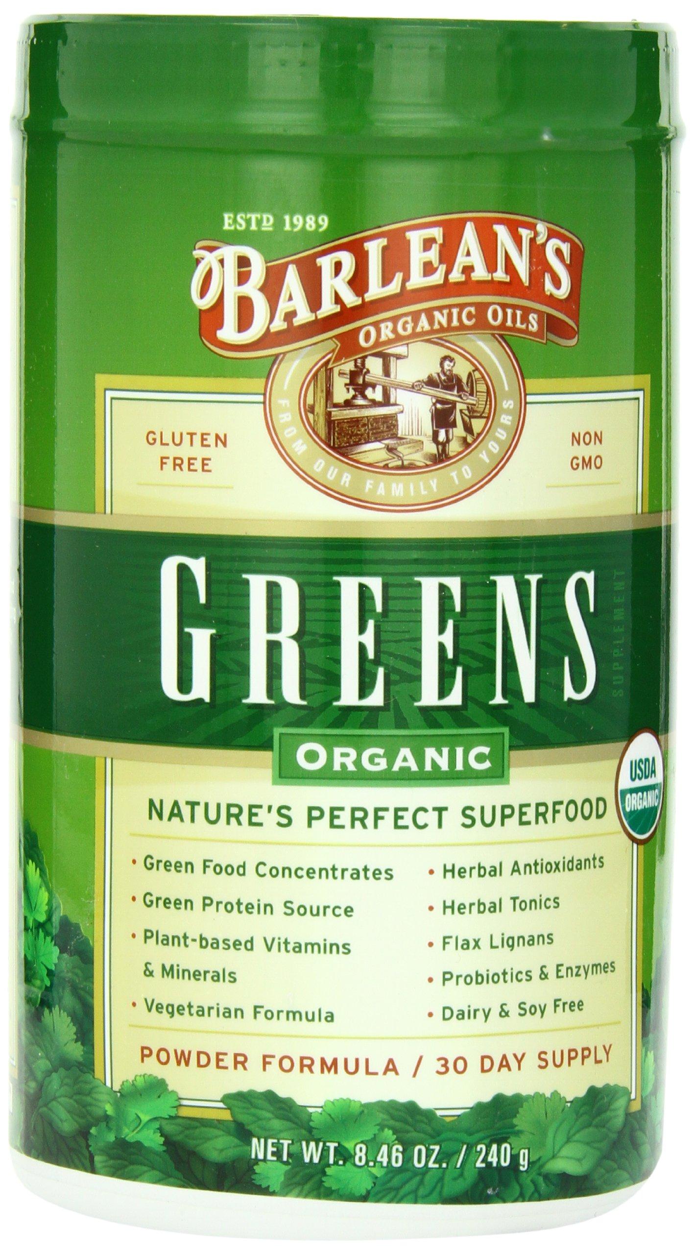 Barlean's Organic Oils Barlean's Greens, 8.46 oz. Container