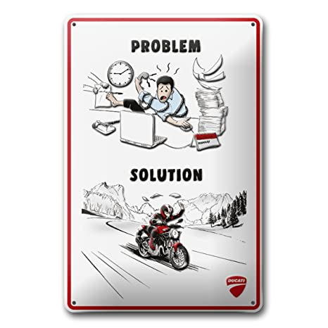 Amazon Com Ducati Corse Problem Work Solution Riding Funny