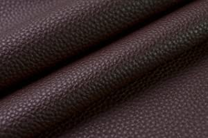 Wento 0.9mm Thick 1 Yard Faux Leather Fabric Sofa Lychee Skin Wearproof PU Dark Brown Leather for Furniture Car Seat Upholster Pleather for Furniture Cover(#5,1 Yard)