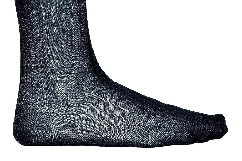 Ribbed Elegant Vitsocks Knee High Socks Mens 100/% MERCERISED COTTON Over Calf Long 2x PACK