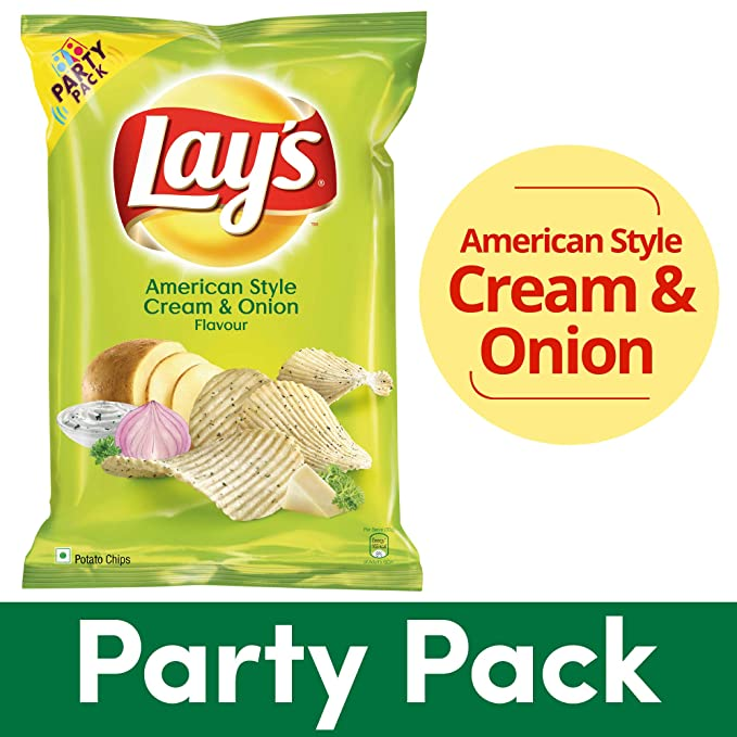 Lay's Potato Chips - American Style Cream & Onion Flavour, 167g