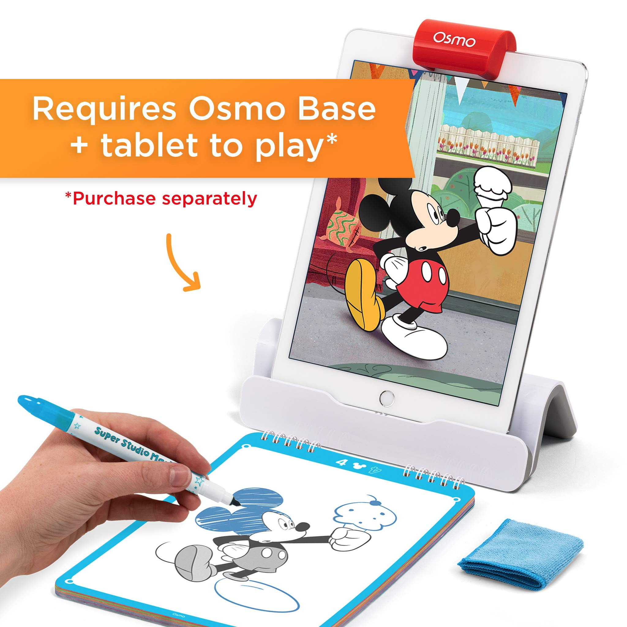 Osmo Super Studio Disney Mickey Mouse & Friends: Learn To Draw Your Clubhouse Favorites & Watch Them Come to Life! (Base Required) by Osmo (Image #2)