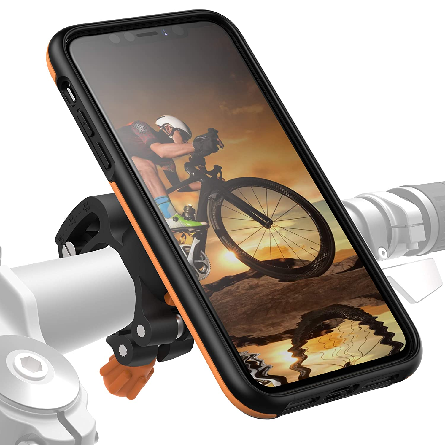 MORPHEUS LABS M4s iPhone 11 Bike Mount Bike Kit for iPhone 11 Black 360 Rotation Stand fits Most Handlebars Adjustable Bicycle Cell Phone Holder Phone Holder /& iPhone 11 Case