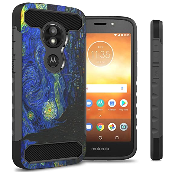 low priced b795c 92f73 Moto E5 Play Case, Moto E5 Cruise Case, CoverON Protective Phone Cover with  Shock Absorbing Protection and Carbon Fiber Accents for the Motorola Moto  ...