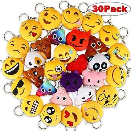 Amazon.com: Dreampark Emoji - Llavero de felpa para niños ...