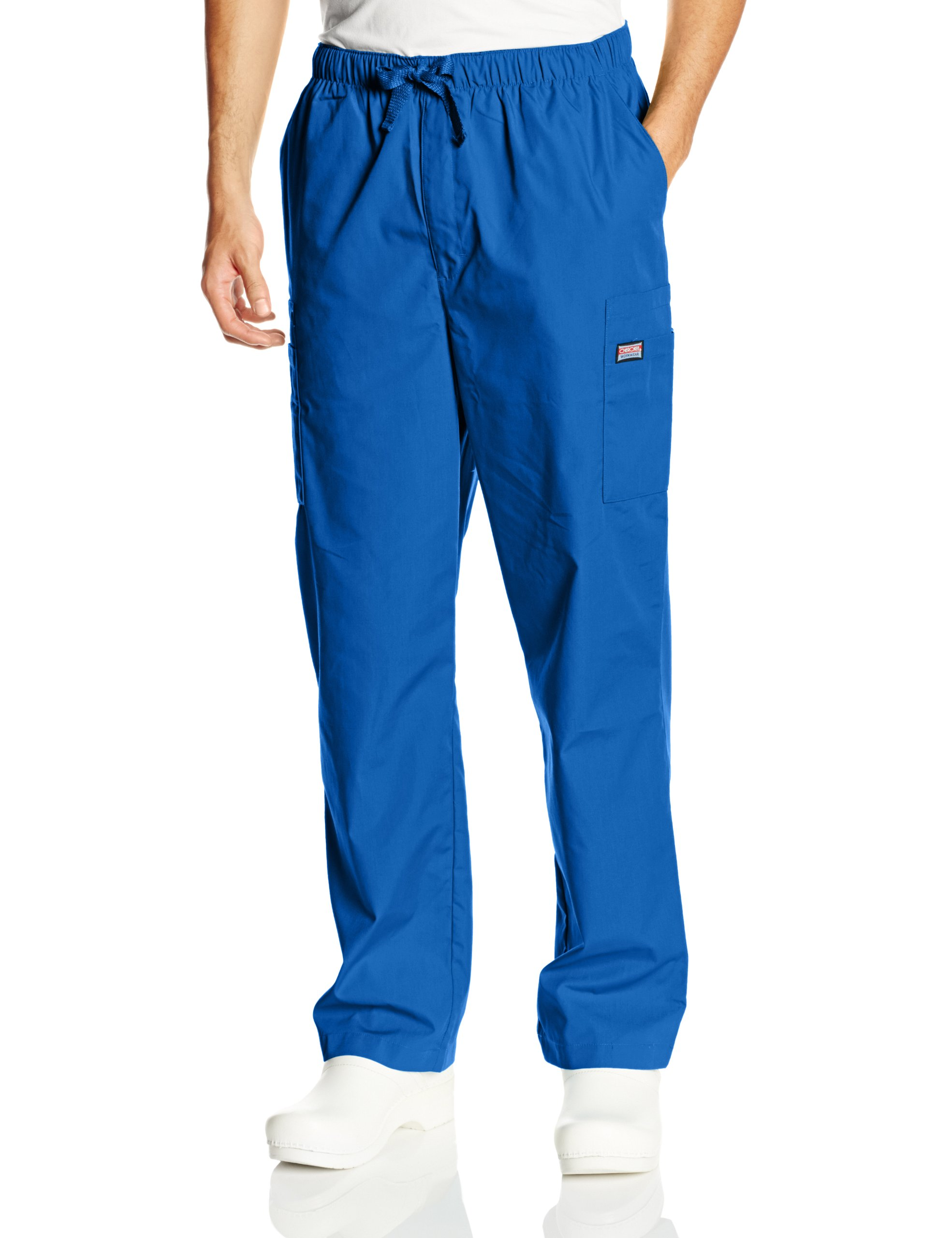 Cherokee Workwear Scrubs Men's Cargo Pant, Royal, Large/Tall