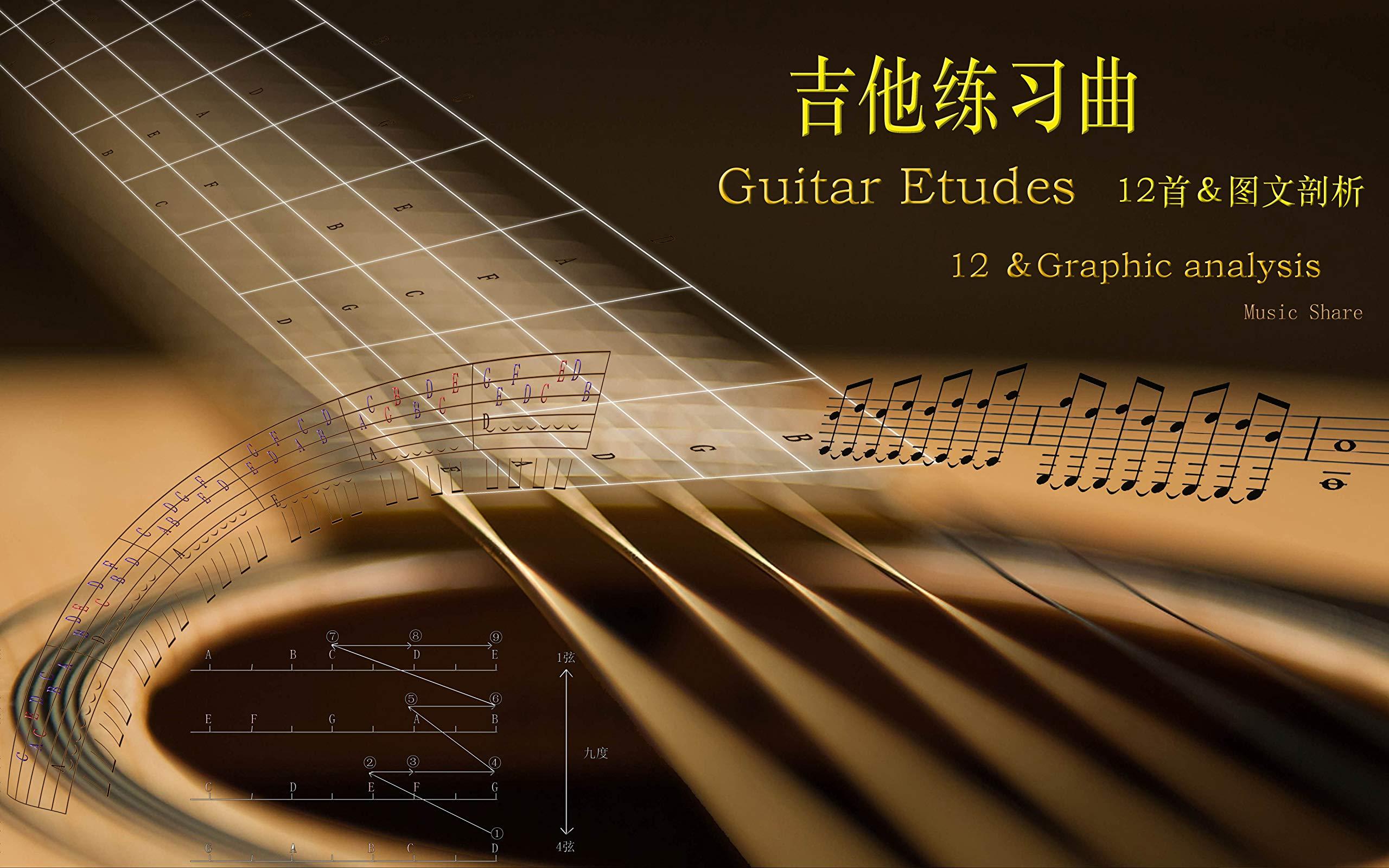 Guitar Etudes: 12 &Graphic analysis