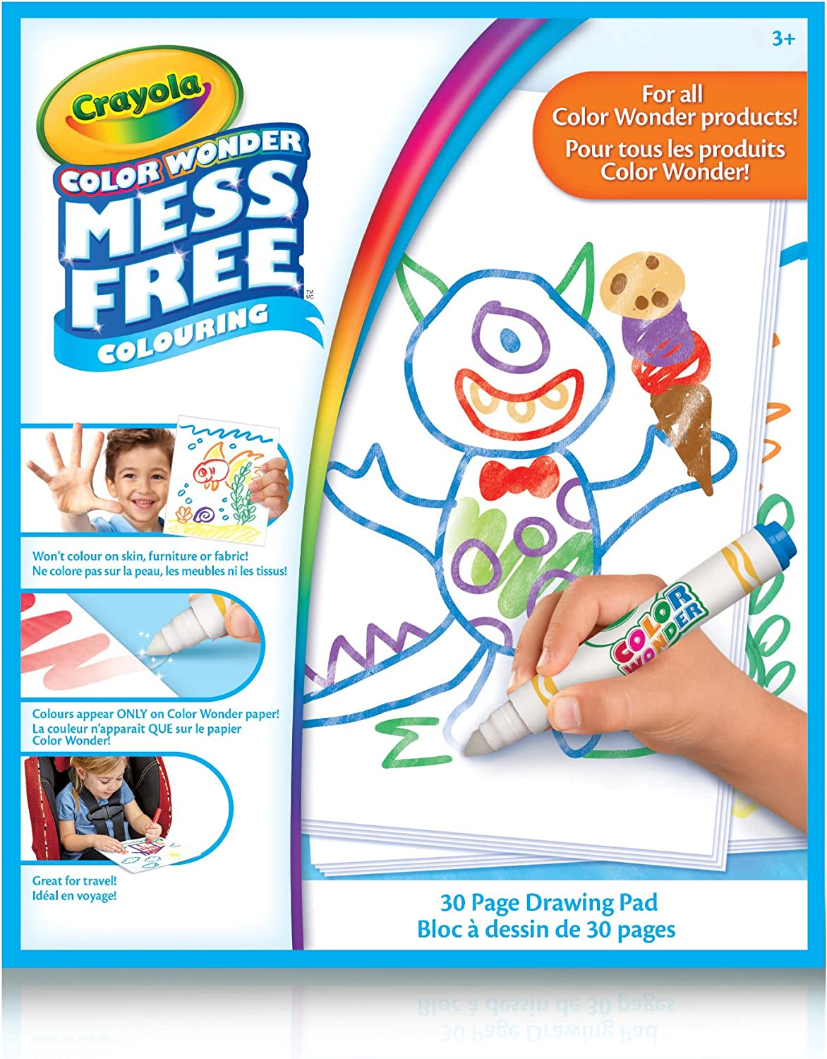Crayola 75 2443 Color Wonder Drawing Pad Mess Free Colouring Washable No Mess Gift For Boys And Girls Kids Ages 3 4 5 6 And Up Summer Travel Cottage Camping On The Go Arts And Crafts