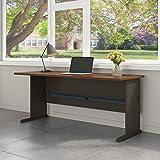 Series A 72W Desk in Sienna Walnut and Bronze
