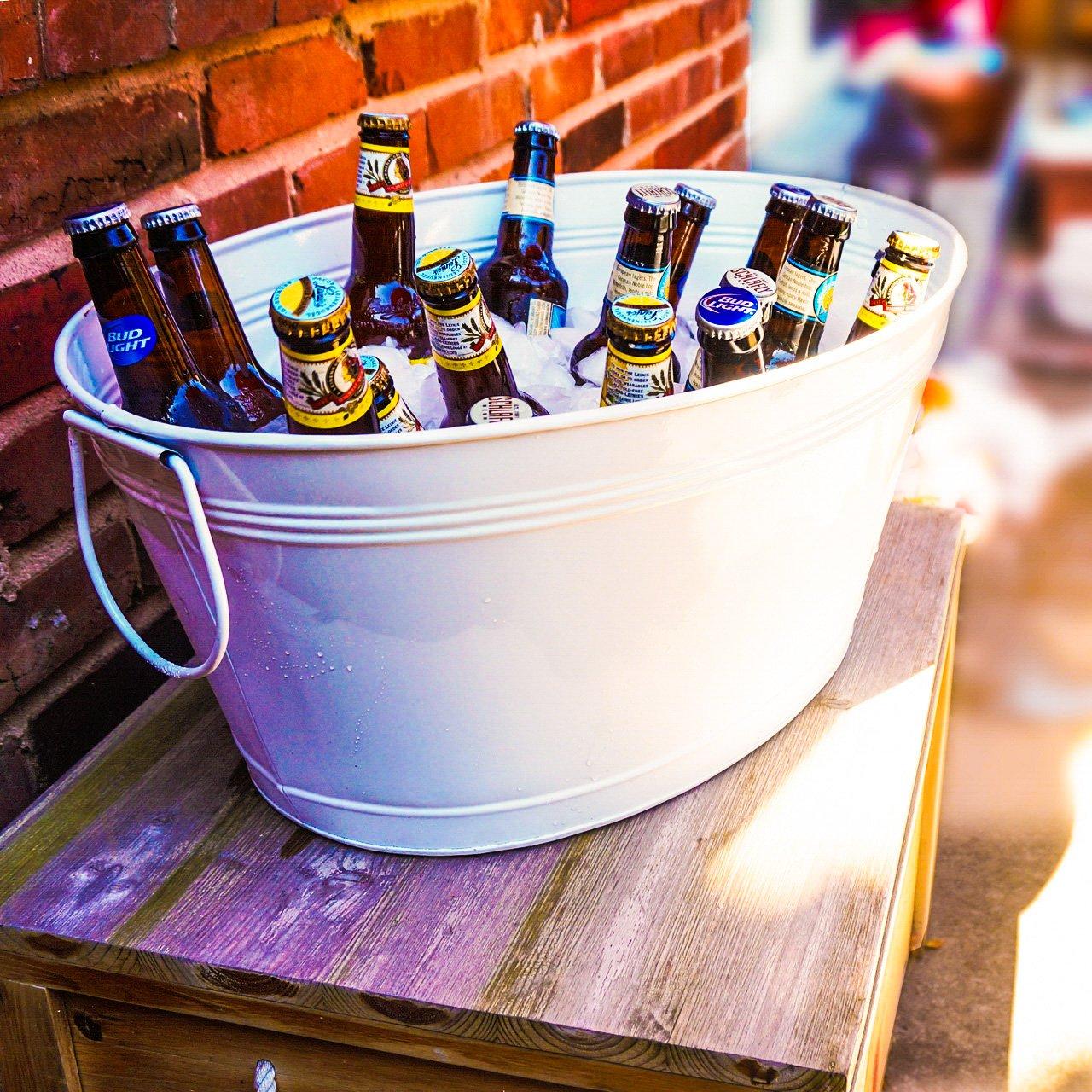 BREKX Great Beverage Tub, Large, White