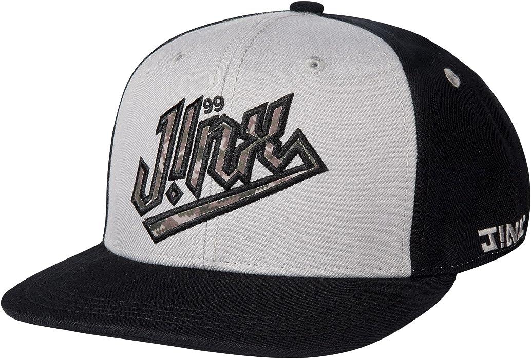 dfae29ba7da Amazon.com  JINX Camo Skully Snapback Baseball Hat (Black Grey