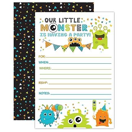 Amazon Com Monster Birthday Invitations Little Monster Birthday