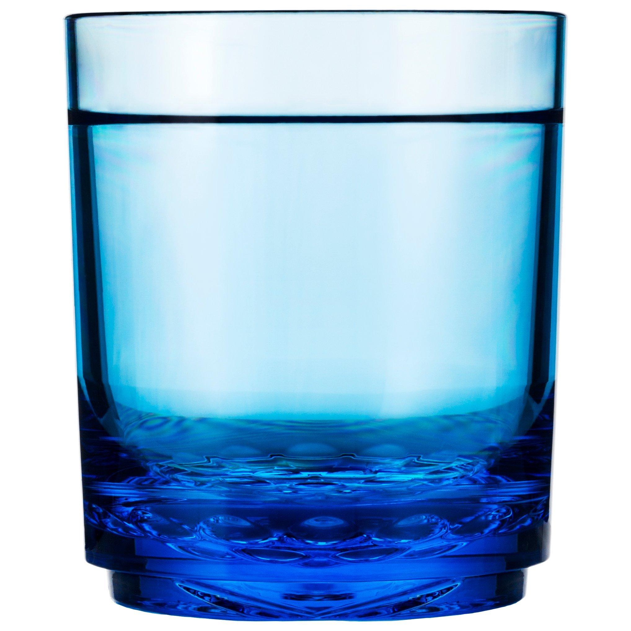 Drinique ELT-TU-BLU-4 Elite Tumbler Unbreakable Tritan Drinking Glasses, 12 oz (Set of 4), Blue