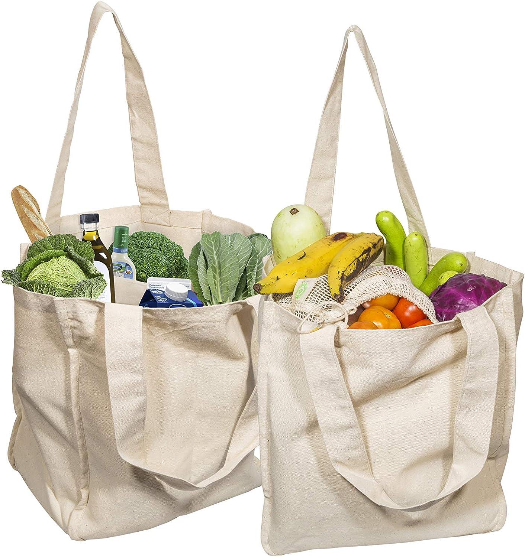 Reusable Shopping Bag Reversible Shopping Bag Market Bag Tote Washable Grocery Bag Cotton Shopping Bag Beach Bag Canvas Shopping Bag