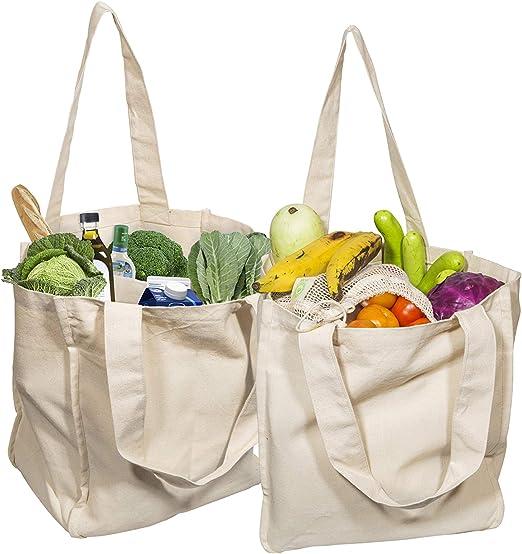 Machine Washable Grocery Bag,Reversible Shopping Bag Cotton Shopping Bag Canvas Shopping Tote,Beach Bag Reusable Shopping,Bag Market Bag