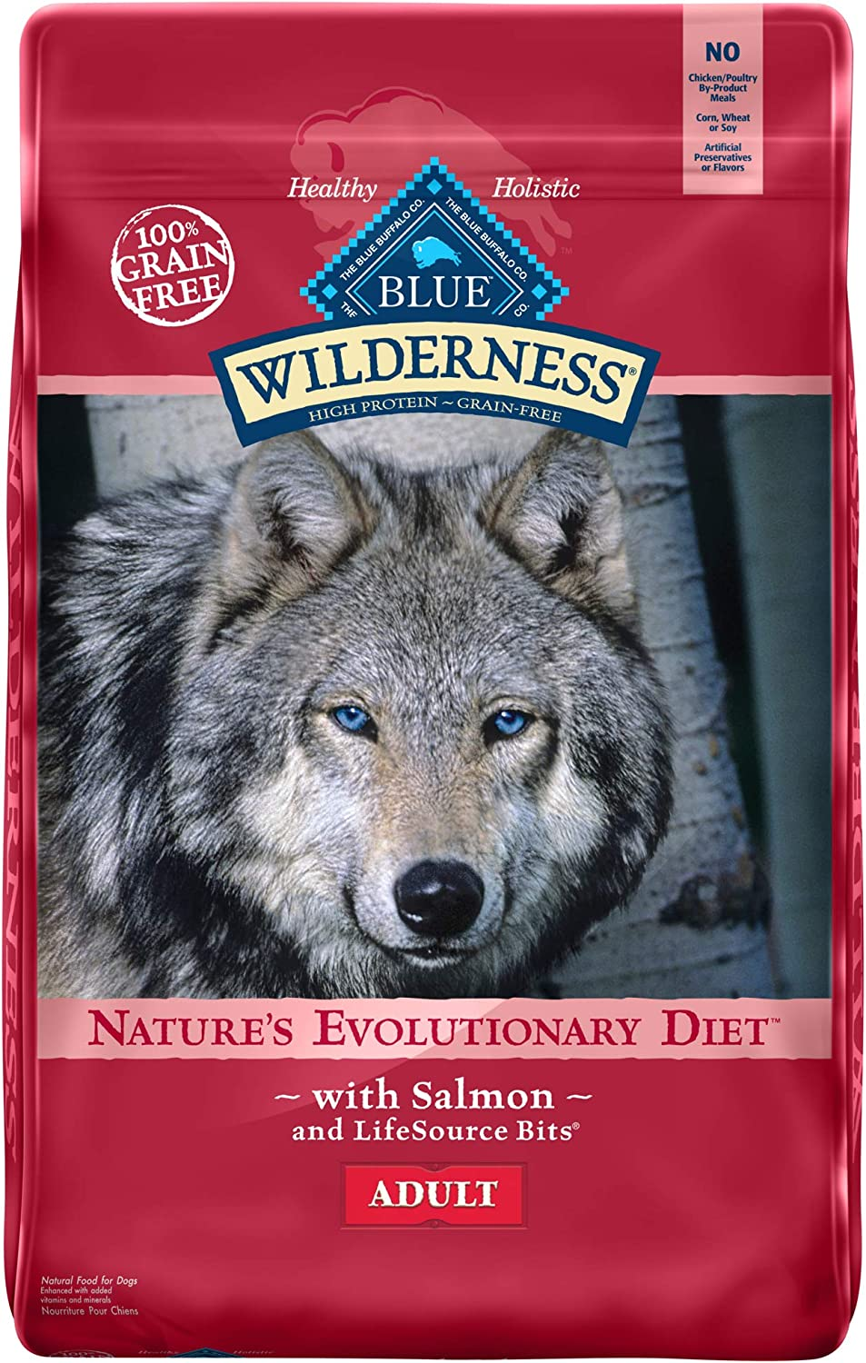 4. Blue Buffalo Wilderness Salmon Recipe Grain-Free Dry Dog Food