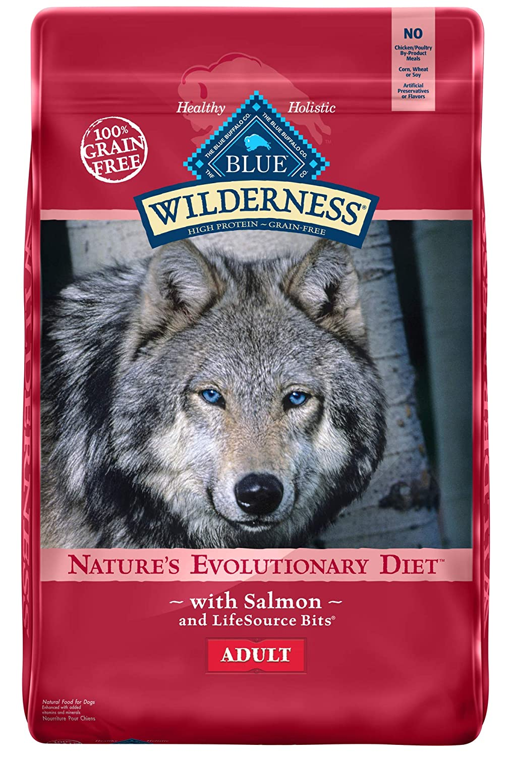 5.Blue Buffalo Wilderness Salmon Recipe Grain-Free Dry Dog Food