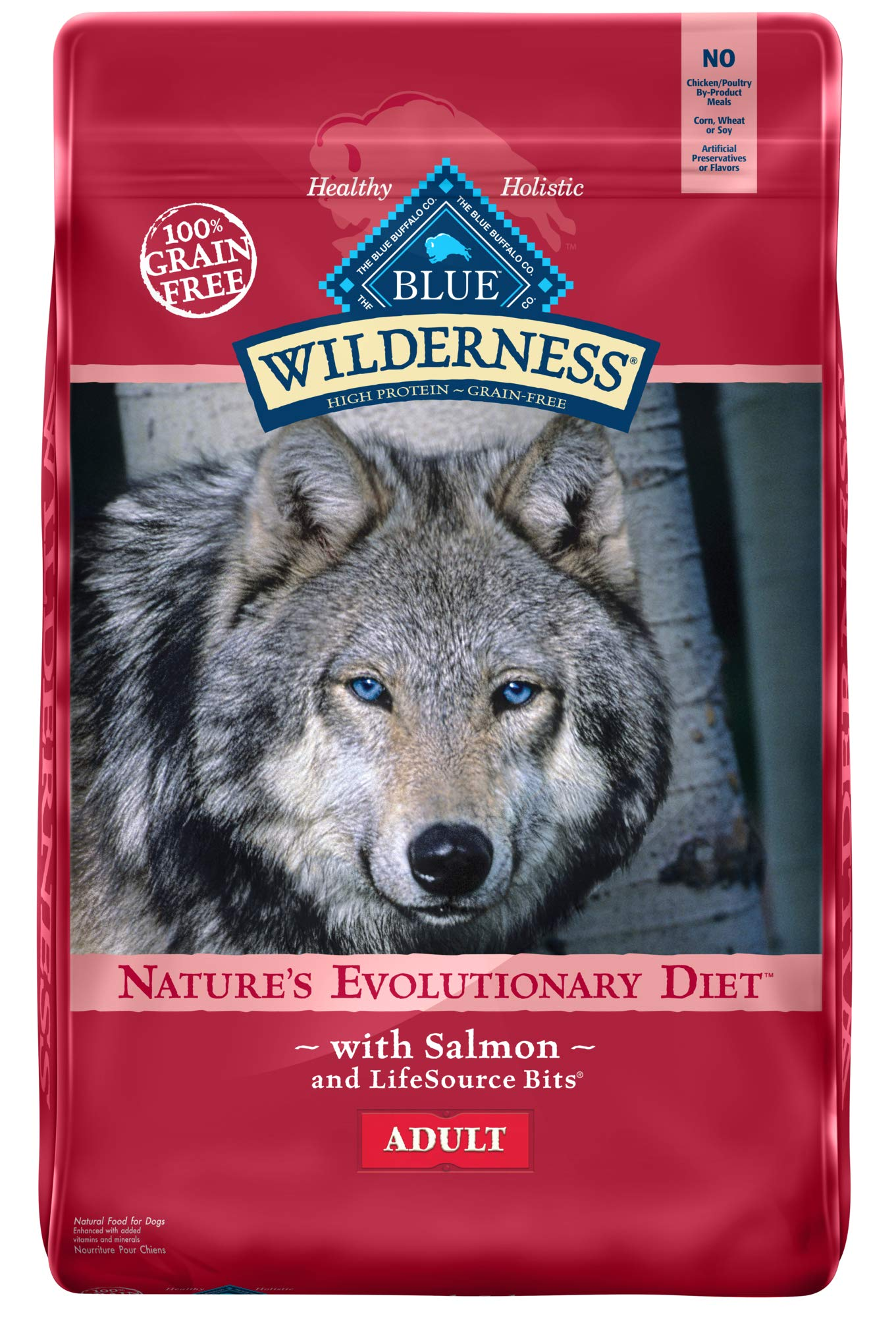 Blue Buffalo Wilderness High Protein Grain Free, Natural Adult Dry Dog Food, Salmon 24-lb by Blue Buffalo