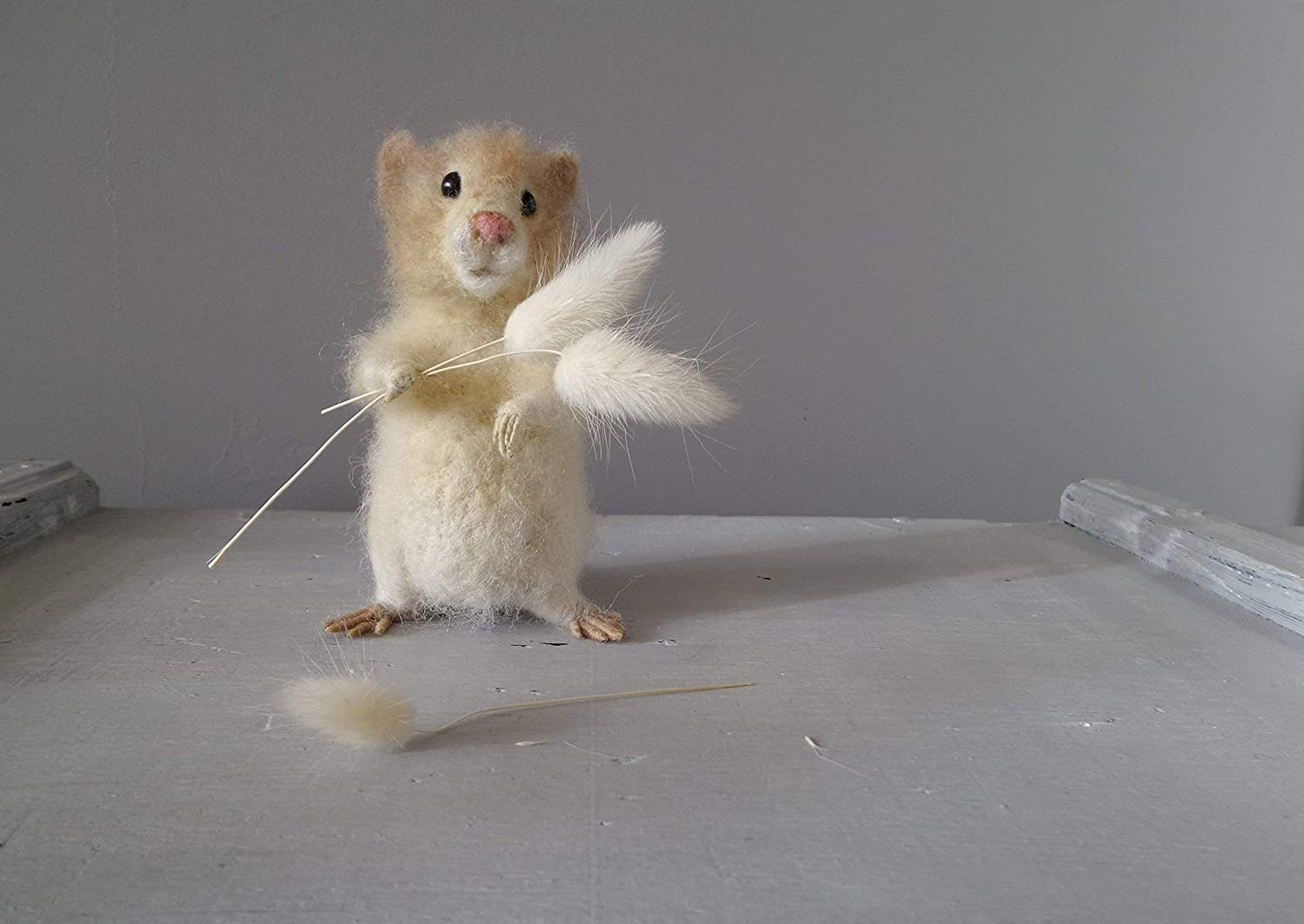 gift for animal lovers Needle felted hamster family with toy cute little woodland animal critter miniatures hamster