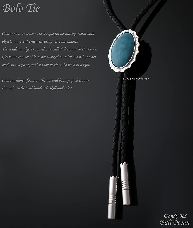 Bali Ocean Bolo Tie Cloisonne Genuine Leather Dandy 085 Collection