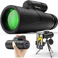 Vabogu Monocular Telescope, 12x50 High Power HD Monocular for Bird Watching Adults with Smartphone Holder & Tripod BAK4…