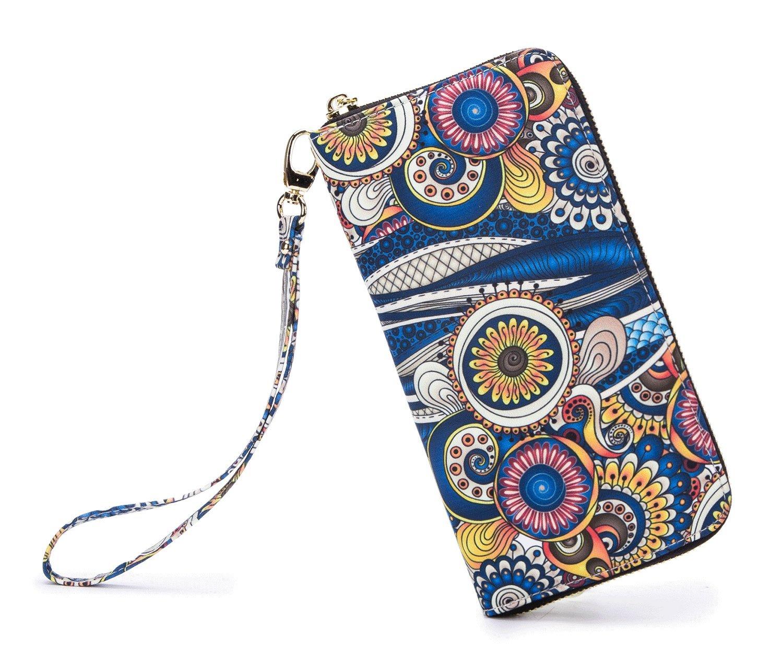 LOVESHE Women wallet Sea Spray Bohemian wristlet Clutch wallets