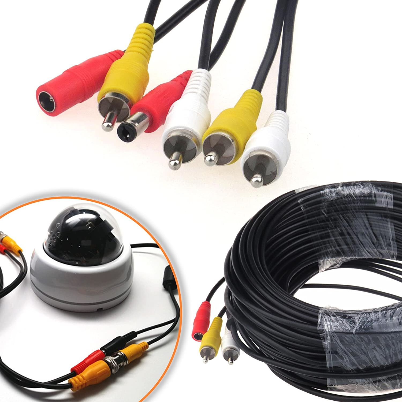 CCTV Security Phono RCA AV Video Power DVR Camera Cable Plug 5M,10M,20M /& 30M