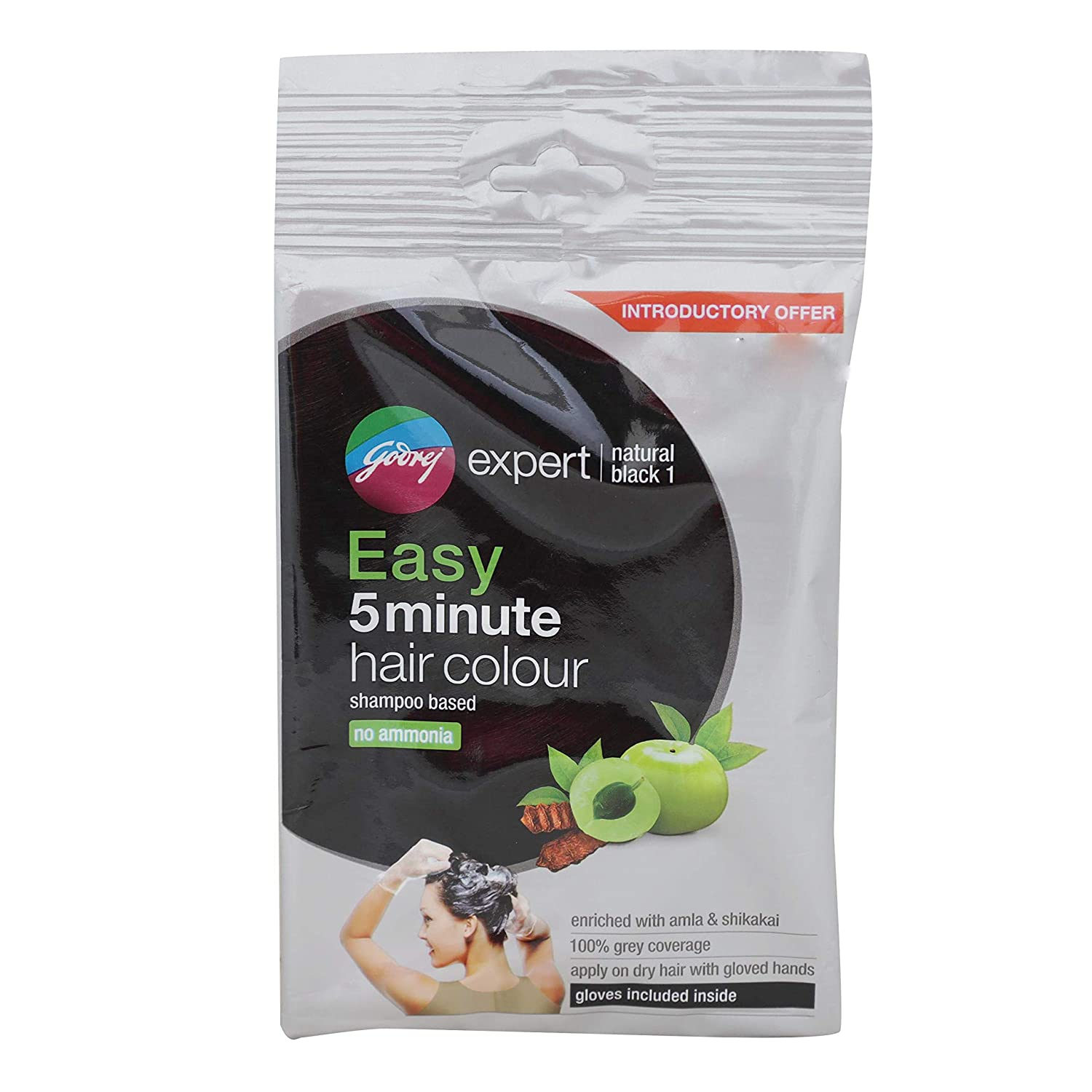 Buy Godrej Expert Easy 5min Shampoo Hair Color 1 Natural Black Pack Of 8 Online At Low Prices In India Amazon In