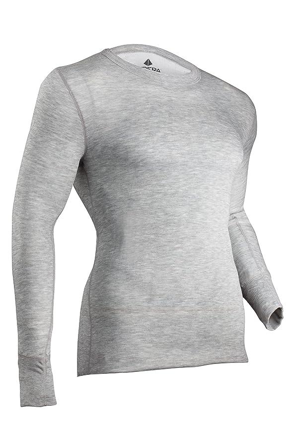 Indera hombres de rendimiento de dos capas térmica ropa interior Top con Silvadur: Amazon.es: Deportes y aire libre