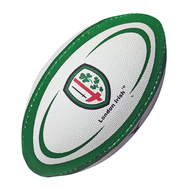 Balón de Rugby de los London Irish - Tamaño Mini 1 - Marca Gilbert