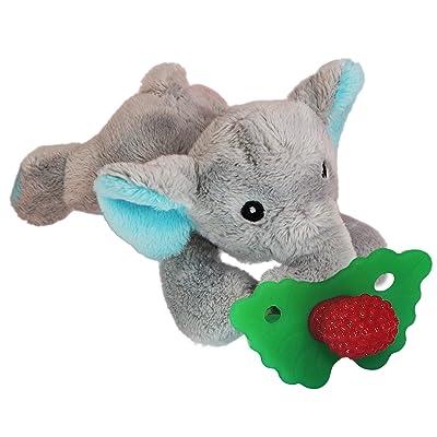 RaZbaby RaZbuddy RaZberry Teether/Pacifier Holder w/Removable Baby Teether Toy - 0M+ - Bpa Free - Elephant : Baby