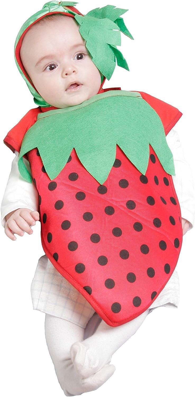 Nines dOnil Export - Disfraz Babero fresita, para bebés, Color ...