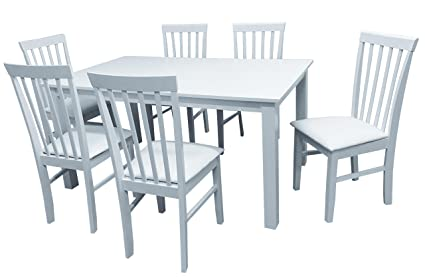 Camden Isle 152242 Fairfax 7 Piece Dining Set In White