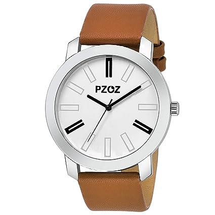 PZOZ Analogue White Dial Men's Watch
