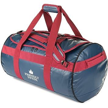 1e0c256f34100 The Friendly Swede Wasserfeste Reisetasche - Duffle Bag Rucksack 30L   60L    90L - Seesack