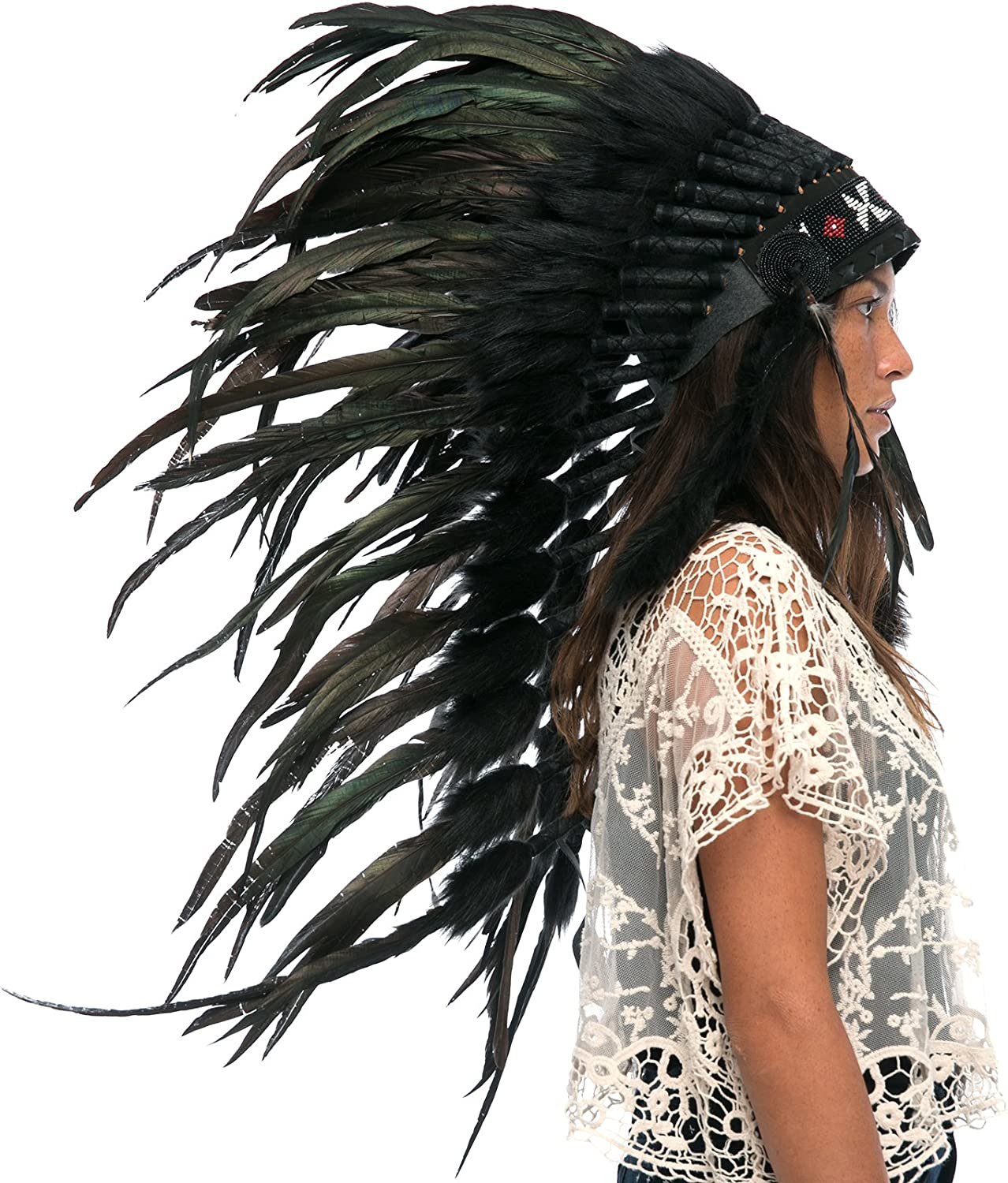 Brand New Chief Native American Indian Wansum Tail Adult Halloween Costume