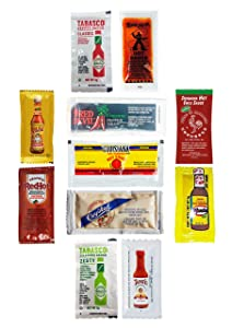 ULTIMATE Hot Sauce Packet Assortment! Receive at LEAST 8 Different Sauces! GREAT FLAVORS! Great for Travel/Single-Use Packets (50 Count)