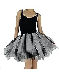 YSJERA Women's Adult Tutu Tulle Mini A-Line Petticoat Prom Party Skirt Cosplay Casual Fun Skirts