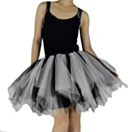 YSJERA Women's Adult Tutu Tulle Mini A-Line Petticoat Prom Party Skirt Cosplay Casual Fun Skirts
