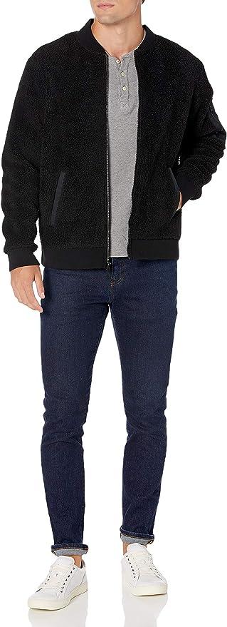 Bronceado Goodthreads Sherpa Fleece Fullzip Jacket Outerwear-Jackets US XXL EU XXXL-4XL