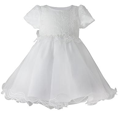 c2f771ff2deea Boutique-Magique Robe de baptême Blanche bébé Fille Dentelle et Tulle